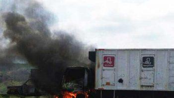 Ejército detiene a un civil en Michoacán; incendian autos