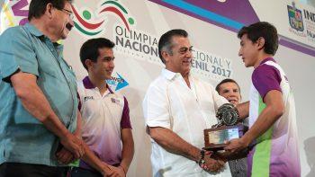 Galardona Estado a medallistas de la Olimpiada Nacional 2017