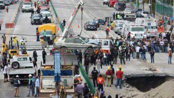 SCT informa a legisladores priístas sobre socavón en Paso Exprés