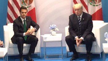 Migración y economía, los temas del encuentro Peña Nieto-Trump