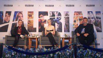 Luc Besson y Cara Delevingne presentan 'Valerian' en México