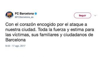 Reacciona el Barça ante el atentado