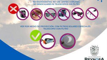 Recomienda Protección Civil cuidarse de daño visual permanente durante Eclipse