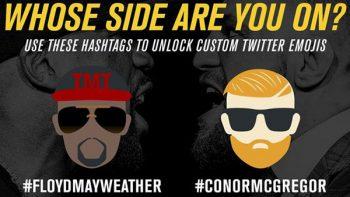 UFC anuncia emojis para pelea entre Mayweather y McGregor