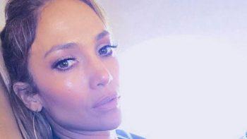 Jennifer Lopez se muestra natural y lejos del glamour