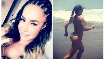 Lis Vega corre en bikini por la playa