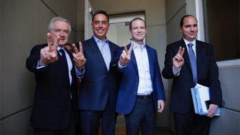 Se reúnen Ricardo Anaya y Guillermo Anaya con el Pleno de la Sala Superior del TEPJ