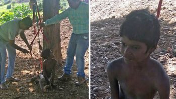 Niños discapacitados vivieron desnudos y amarrados a un árbol por cinco años