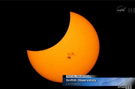 Siguen eclipse desde la NASA