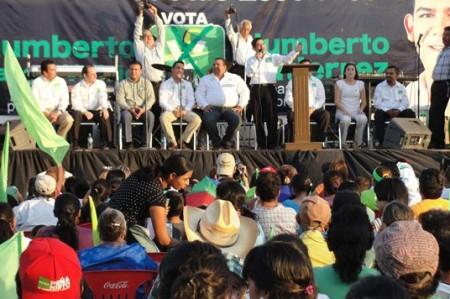 Cierran campaña en Matamoros<br>candidatos del PVEM al Senado