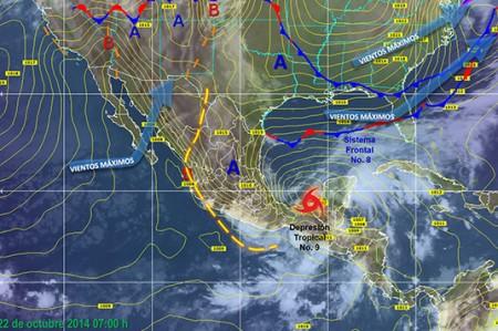 Depresión tropical nueve se acerca a la Sonda de Campeche, alerta Meteorológico