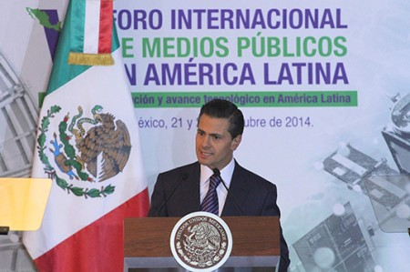 Asegura Peña Nieto libertad de expresión a medios públicos y privados