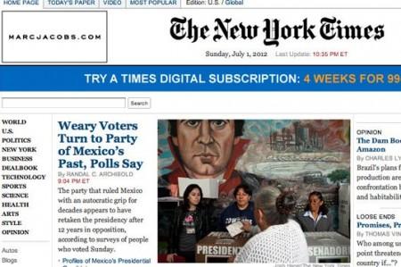 Peña Nieto, con cómoda victoria: New York Times