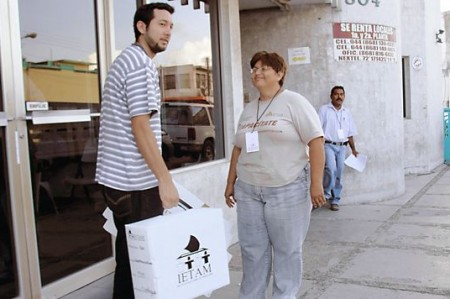 Reciben en Matamoros los paquetes electorales para el próximo 4 de julio