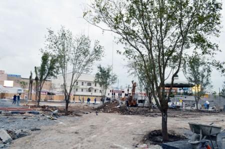 Avanza remodelación de plaza principal de Reynosa
