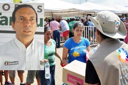 Sedesol reparte 52 mil despensas en Reynosa