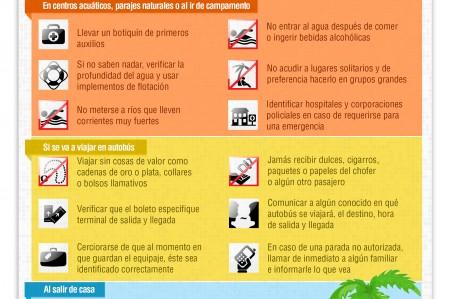 Vacaciones: recomendaciones de seguridad para época vacacional