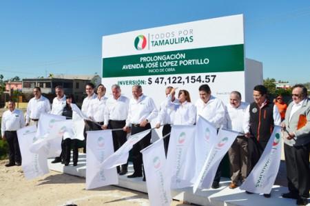 Inaugura Egidio arranque de dos puentes vehiculares en Reynosa