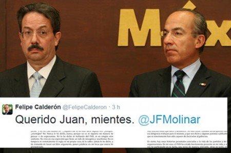 'Mientes Juan', contesta Calderón a Horcasitas
