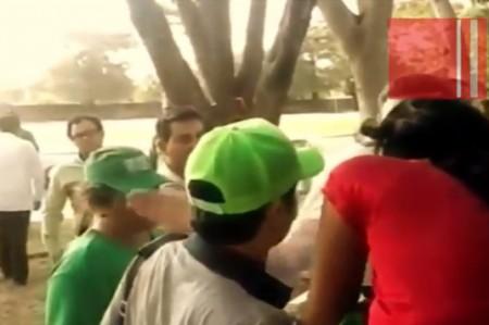 El video de la bofetada de Manuel Velasco, gobernador de Chiapas