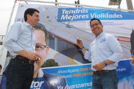 Felipe de Jesús y Héctor Castillo firman compromiso para paso elevado