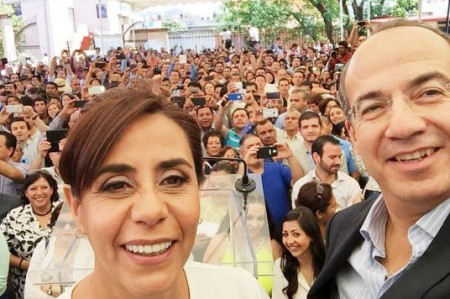 Ando en campaña porque es mi deber: Calderón