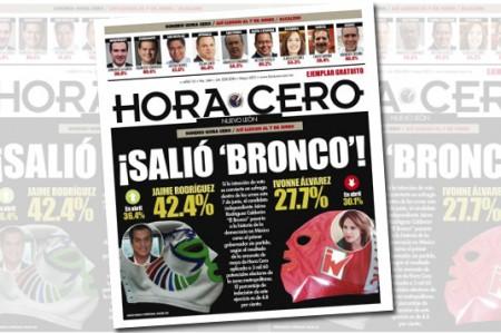 La encuesta de Hora Cero; 'El Bronco' arriba por 15 puntos