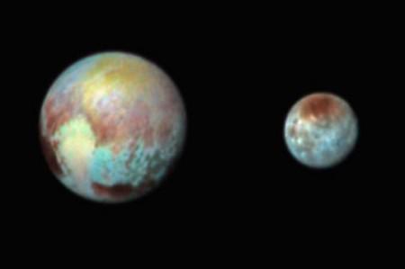 Las imágenes de Plutón y Caronte
