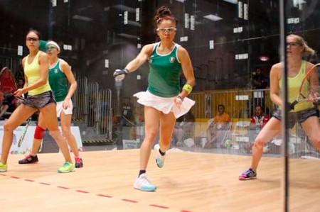 Longoria y Salas consiguen oro en dobles femenil de racquetbol