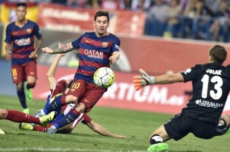 El Barcelona gana 2-1 al Atlético con goles de Neymar y Messi