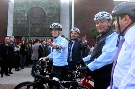Diputados promueven uso de bicicleta en Día Mundial Sin Automóvil