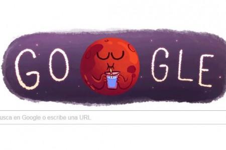 Google celebra la existencia de agua en Marte