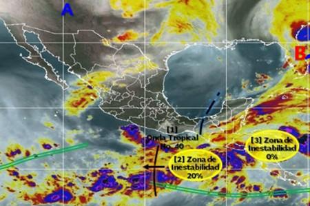 Monitorean zonas de inestabilidad en Golfo de Tehuantepec y Mar Caribe