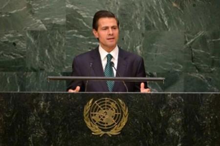 Plantea Peña Nieto atender tema de drogas desde perspectiva humanitaria