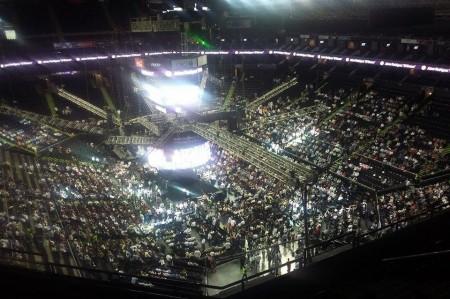 Arena Monterrey casi llena para recibir a 'El Bronco'