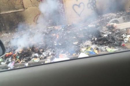 Sigue la quema de basura en Reynosa