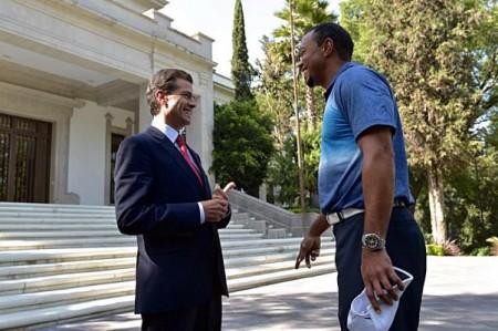 Tiger Woods visita a Peña Nieto