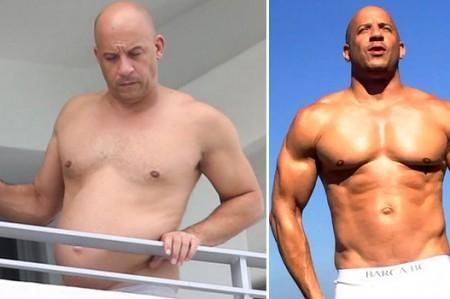 Vin Diesel perdió su musculosa figura