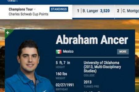 Abraham Ancer cumple sus sueños y debuta en el Mayakoba
