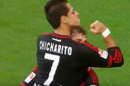Fiesta en Leverkusen por 'Chicharito'