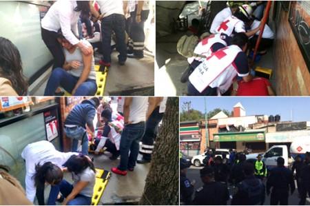 Flamazo en pizzería deja 5 heridos en Copilco