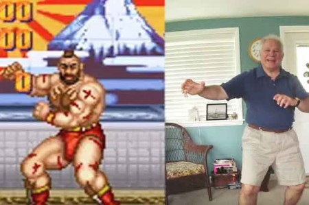 Papá sin pena imita a personajes de Street Fighter; video