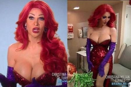 Transgénero paga 200 mil dólares para ser 'Jessica Rabbit'
