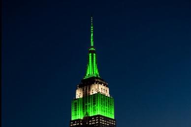 Empire State se ilumina de verde en honor a triunfo de Jets