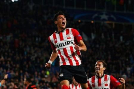 Moreno y Guardado con PSV ya están en octavos final en Champions League