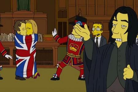 David Bowie y Alan Rickman recordados por Los Simpson