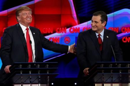 Trump y Cruz se enfrentan en debate republicano