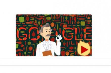 Google rinde un homenaje 'picante' a Wilbur Scoville