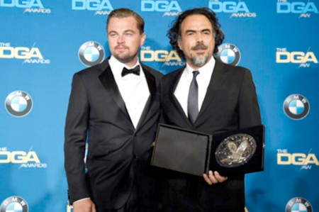 González Iñárritu y DiCaprio llegan a almuerzo de nominados al Oscar