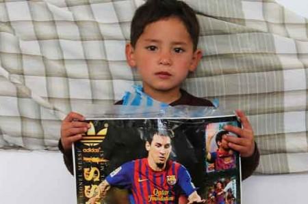 Murtaza, el pequeño fan de Messi en Afganistán